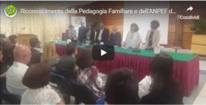 Conferenza di Presentazione del Riconoscimento della Pedagogia Familiare e dei Pedagogisti Familiari da parte del MISE: 40 anni di Storia – 7.6.2019 Roma, Casa dell'Aviatore