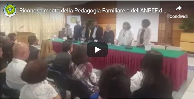 Riconoscimento della Pedagogia Familiare e dell'ANPEF da parte del MISE – 7.6.2019 Roma, Casa dell'Aviatore