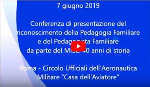 Introduzione Conferenza di Presentazione del Riconoscimento della Pedagogia Familiare da parte del MISE